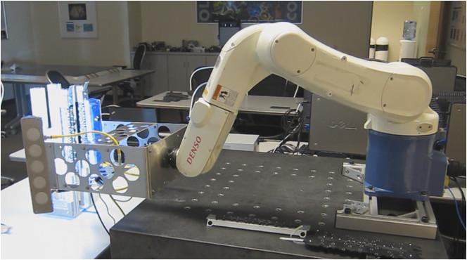 Denso robot test setup
